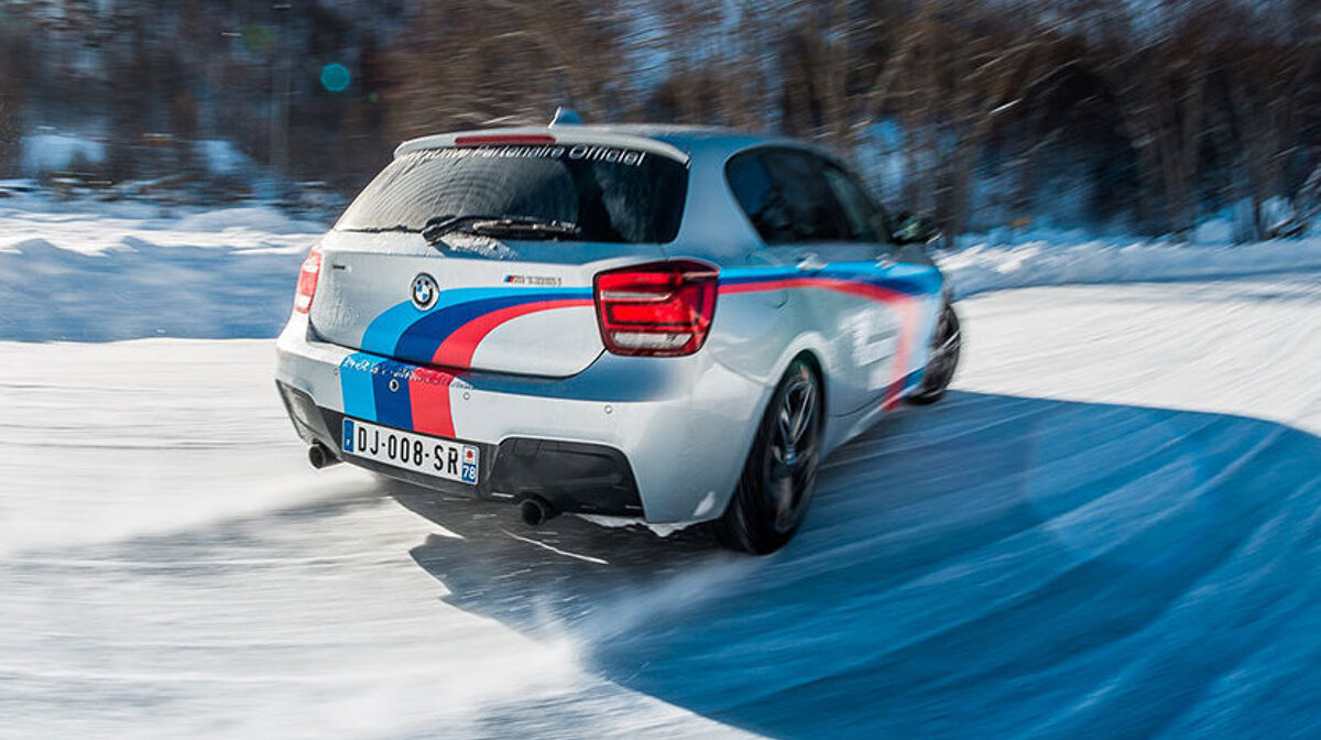 ice driving in val disere