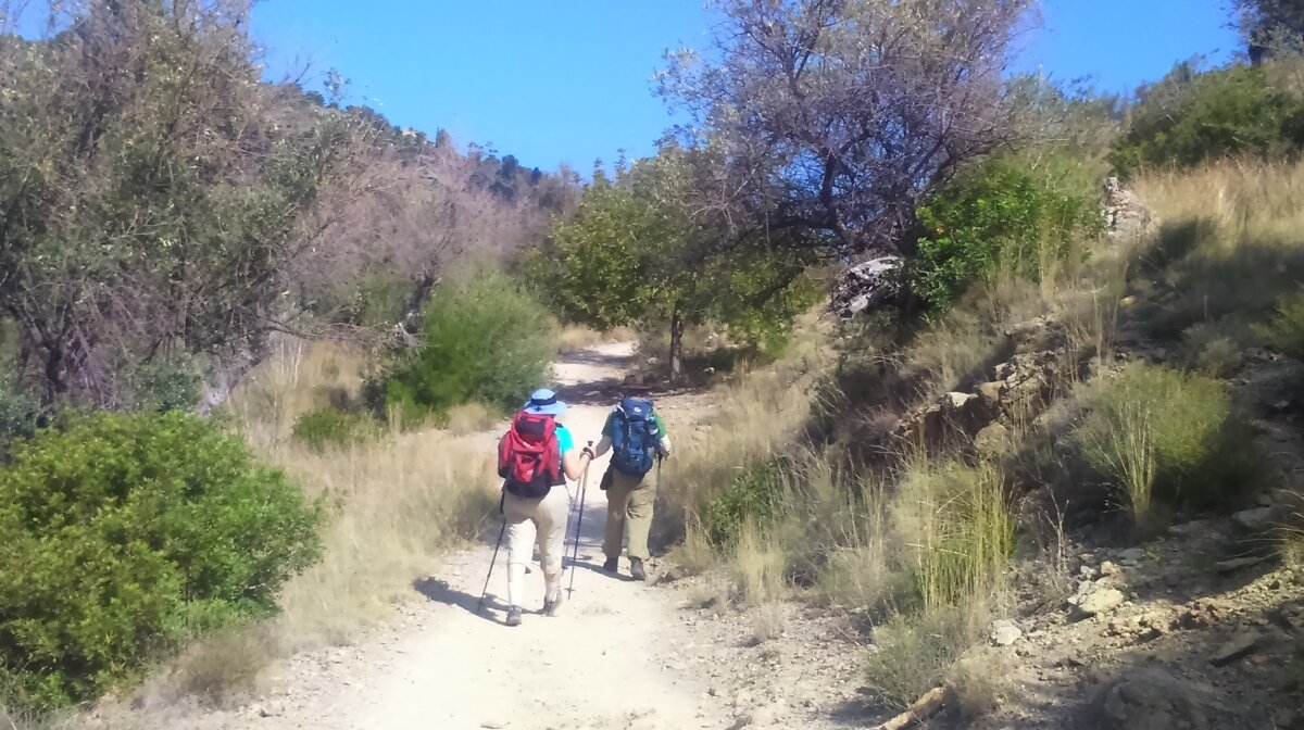 Enjoying the mallorcan hiking trails in summer