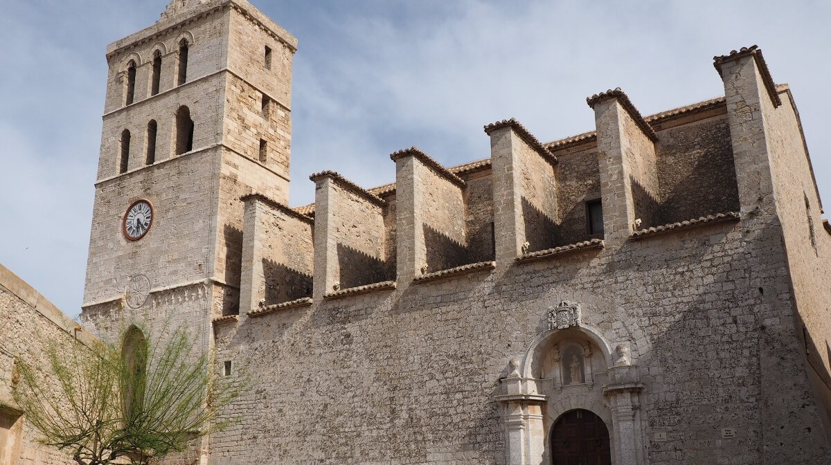 The cathedral at the top of Dalt Vila in Ibiza Town