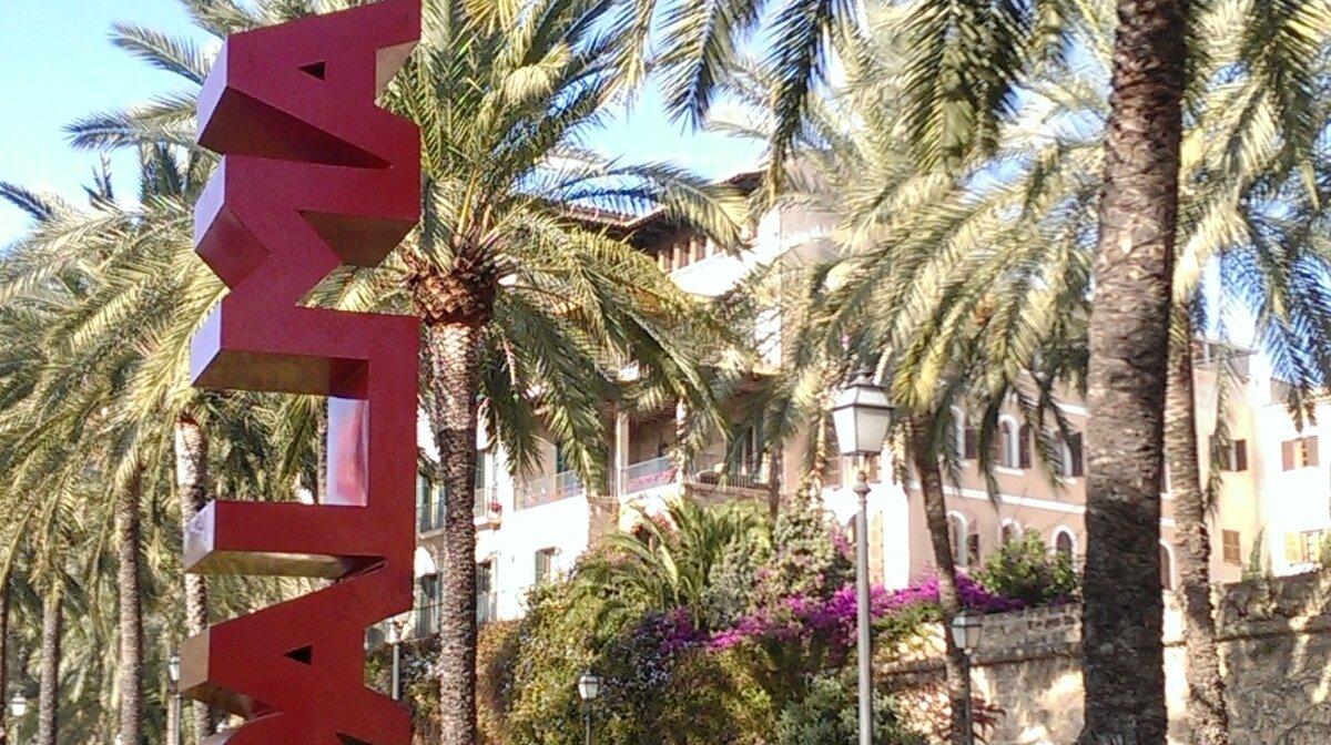 Palma sign in palma de mallorca