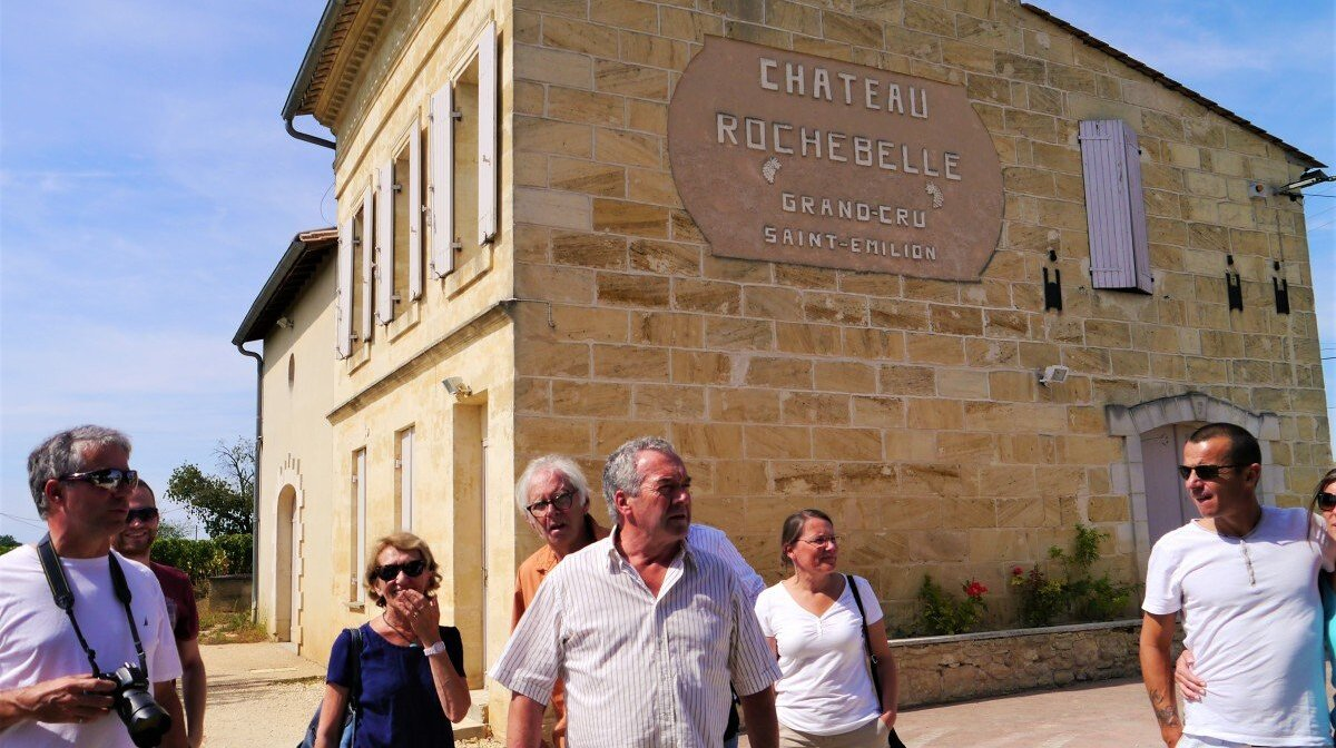 arriving at chateau rochebelle in st emilion