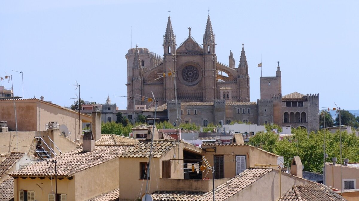 View of the cathedral from Es Balaud art museum terrace