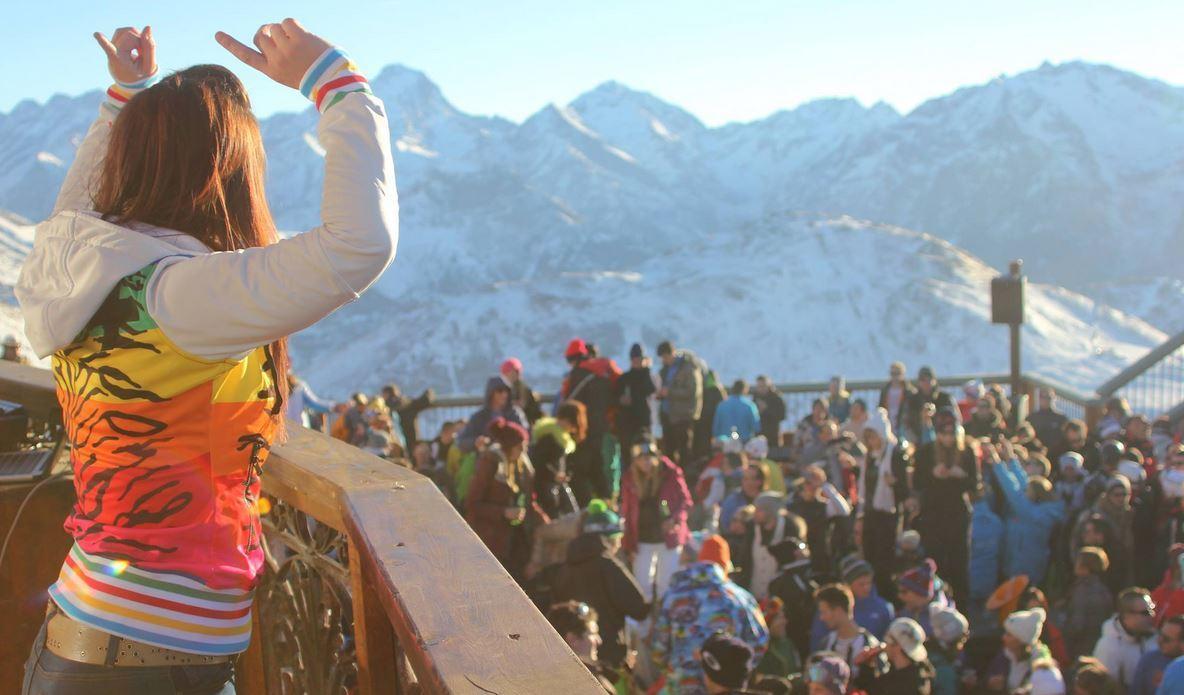 La Folie Douce, Alpe d'Huez terrace