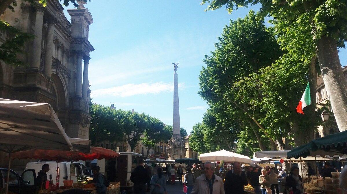 a amrket in aix en provence