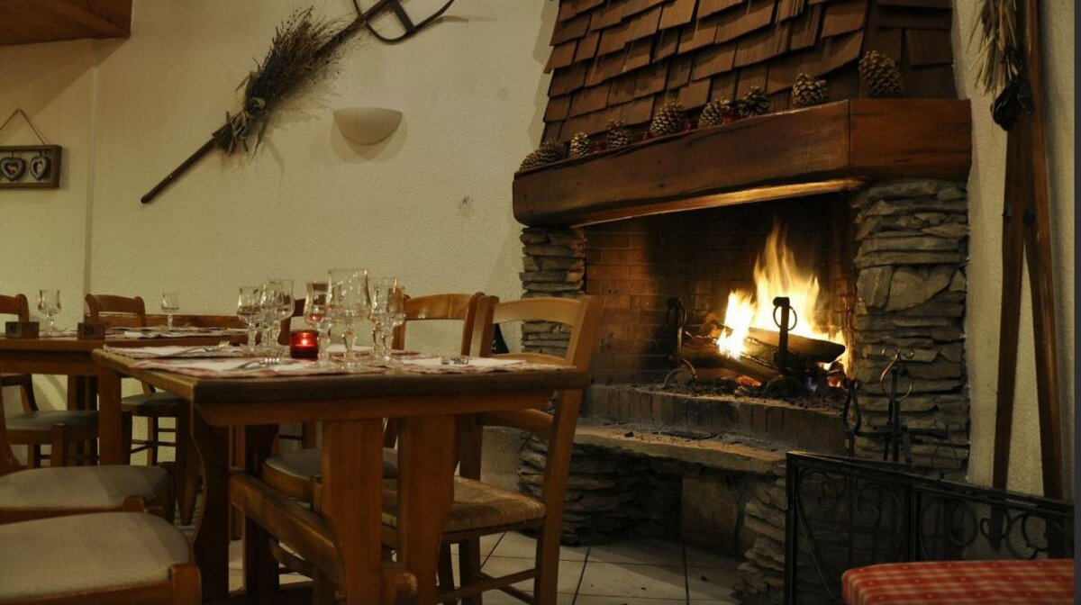 Cosy interior of La Montagne restaurant