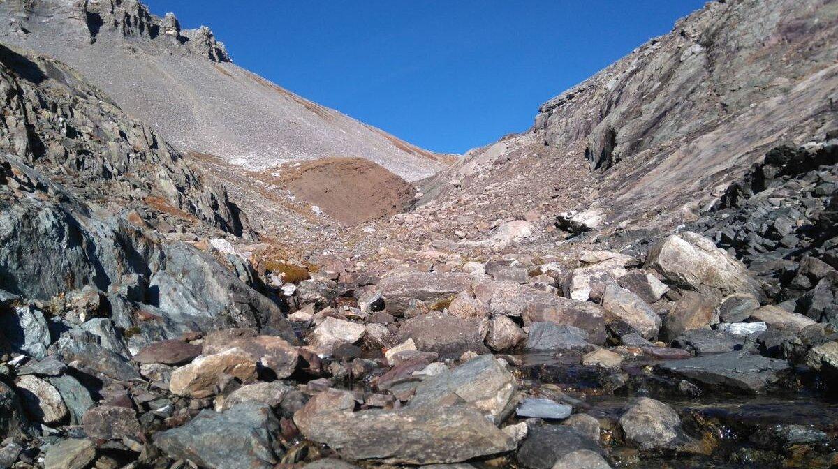 a small ravine in chamonix
