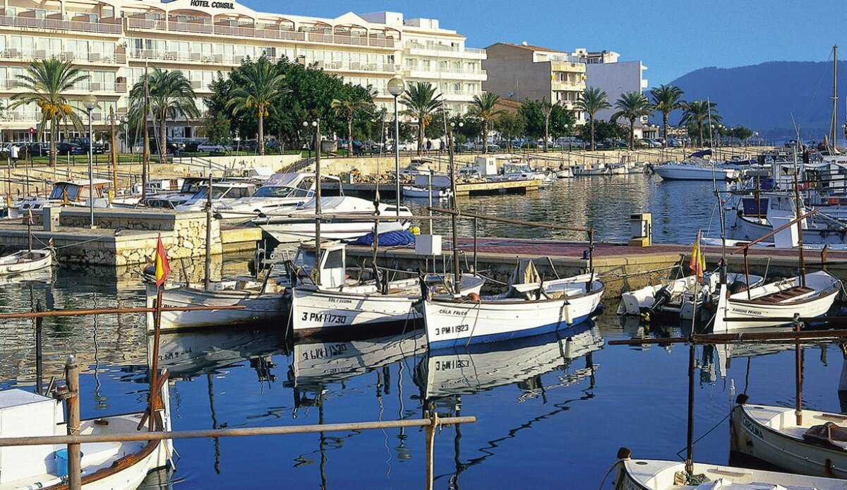 small boats in Port de Cala Bona Marina