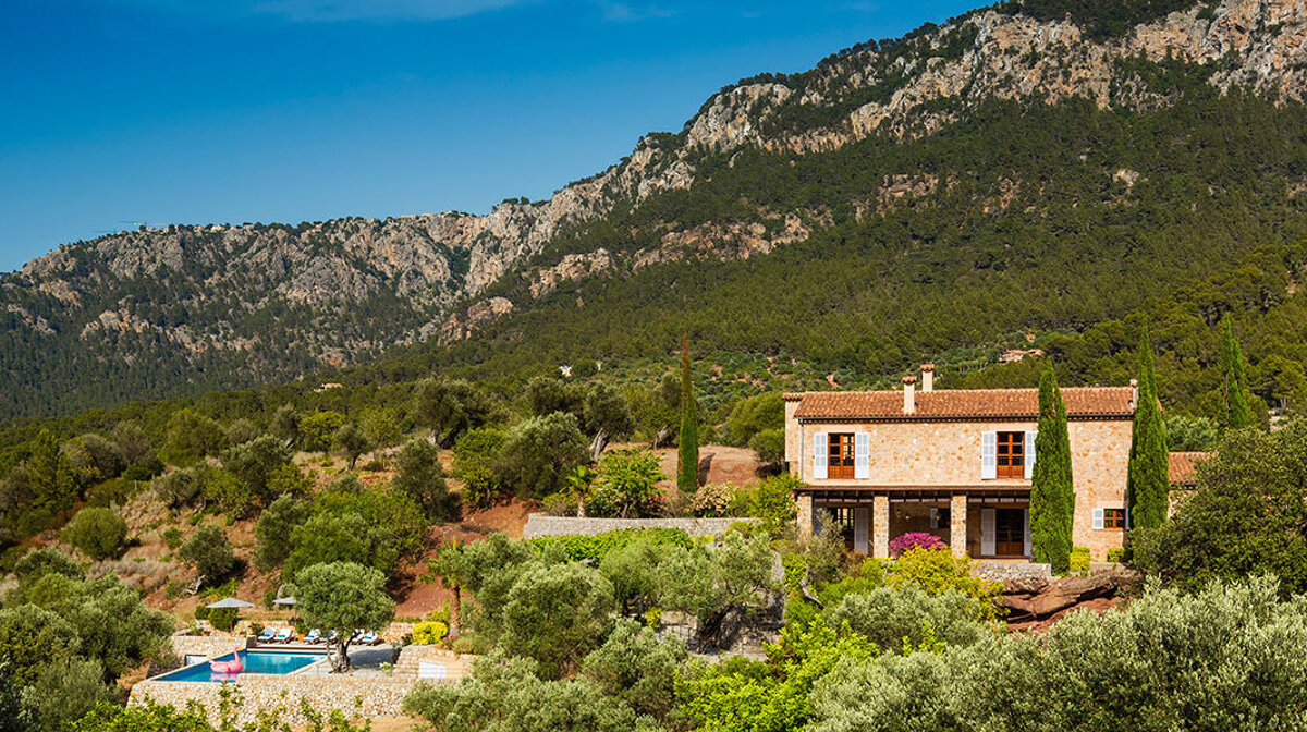 Sa terra Rotja villa on son bunyola estate in mallorca