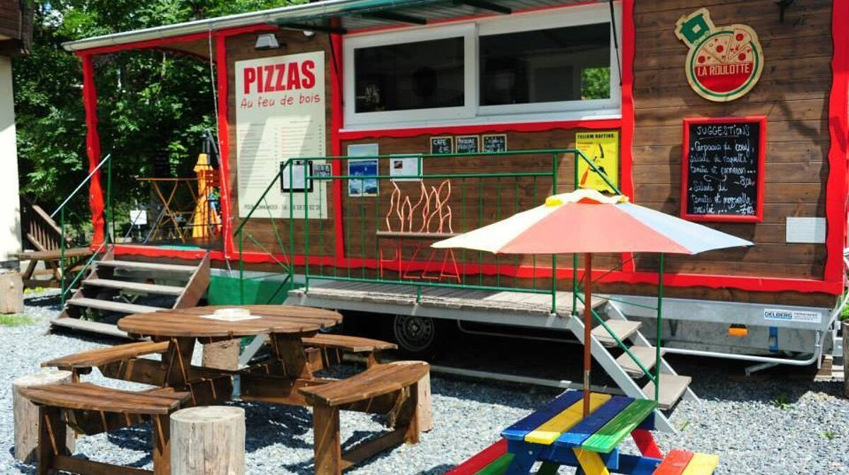 a mobile pizza restaurant