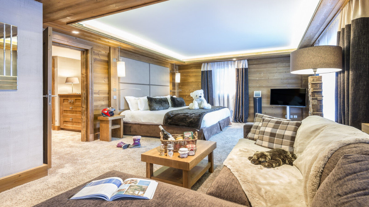 a picture of a hotel suite at Top Hotels in Meribel for any budget