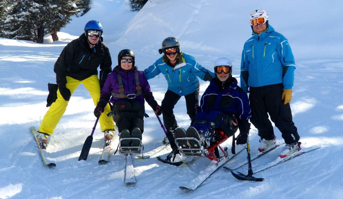 Disabled Skiing La Plagne