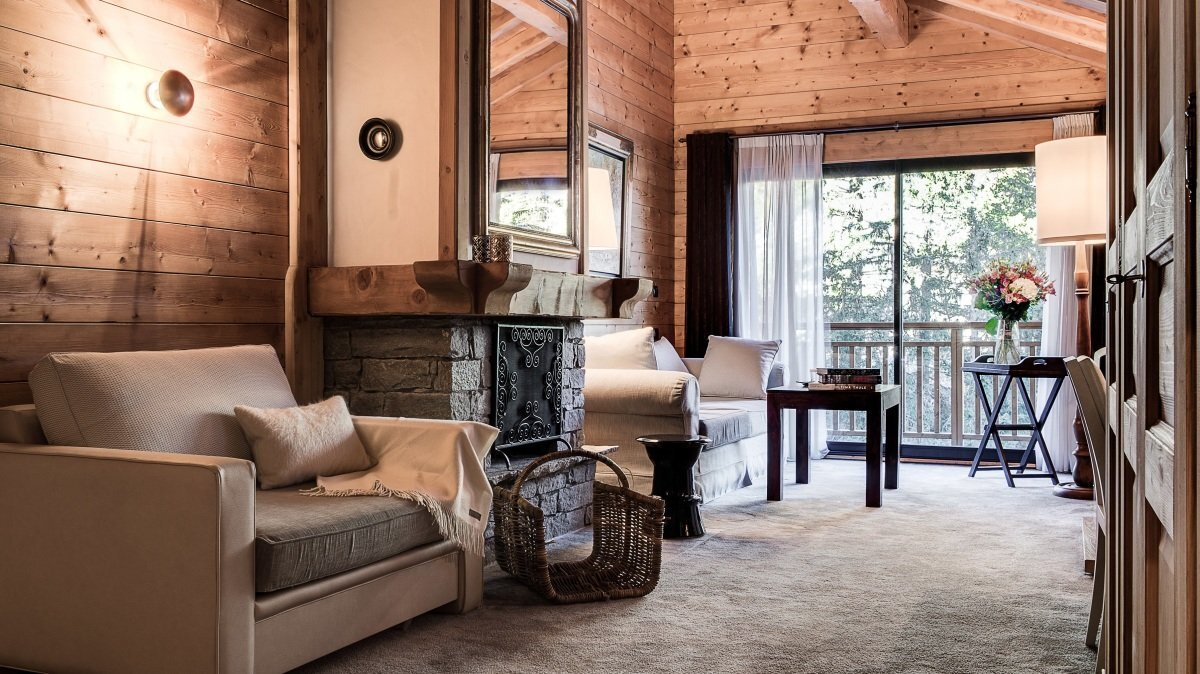 a picture of a hotel suite at Top Hotels in Courchevel for any budget