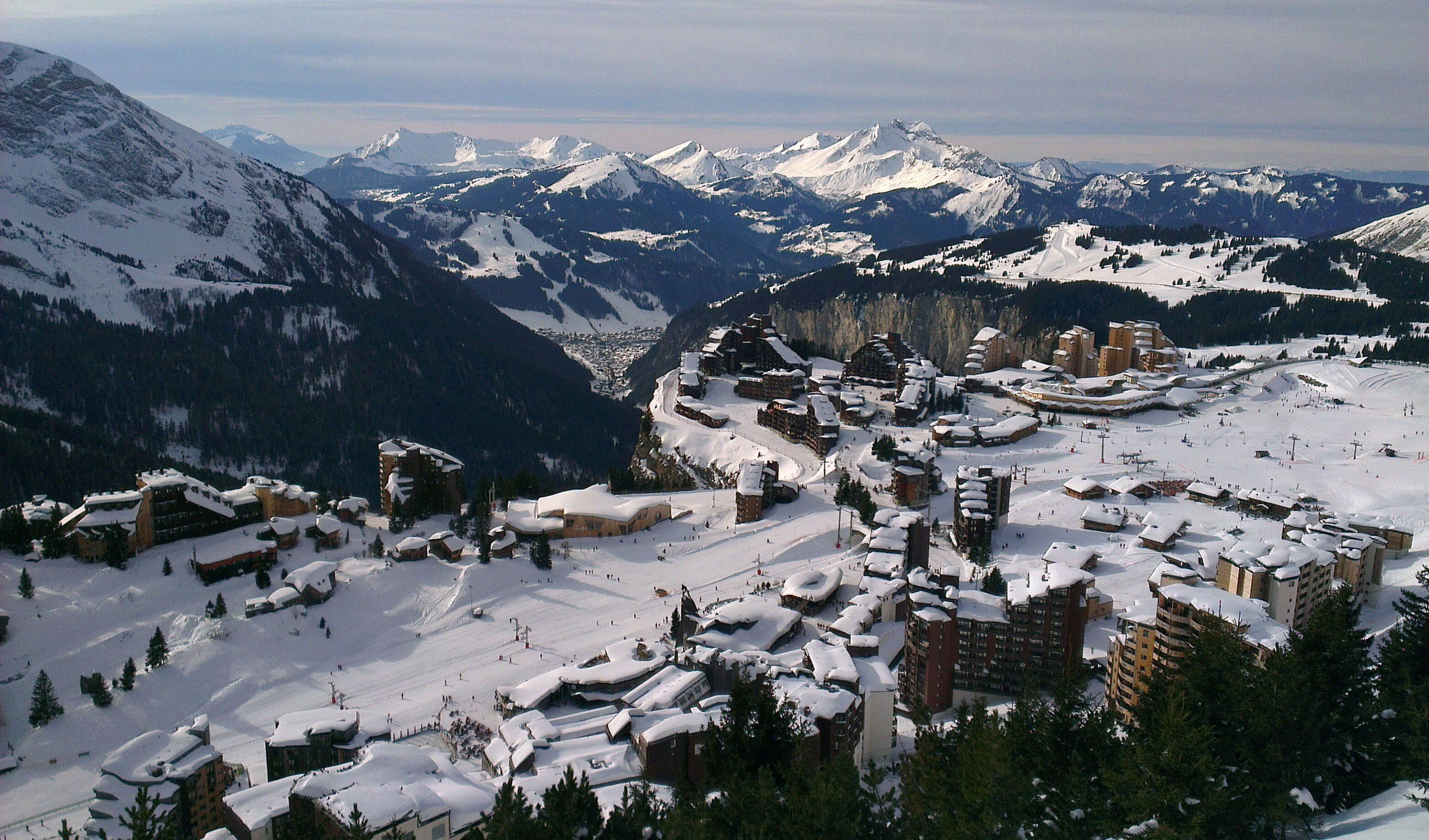 A photo of Avoriaz from above
