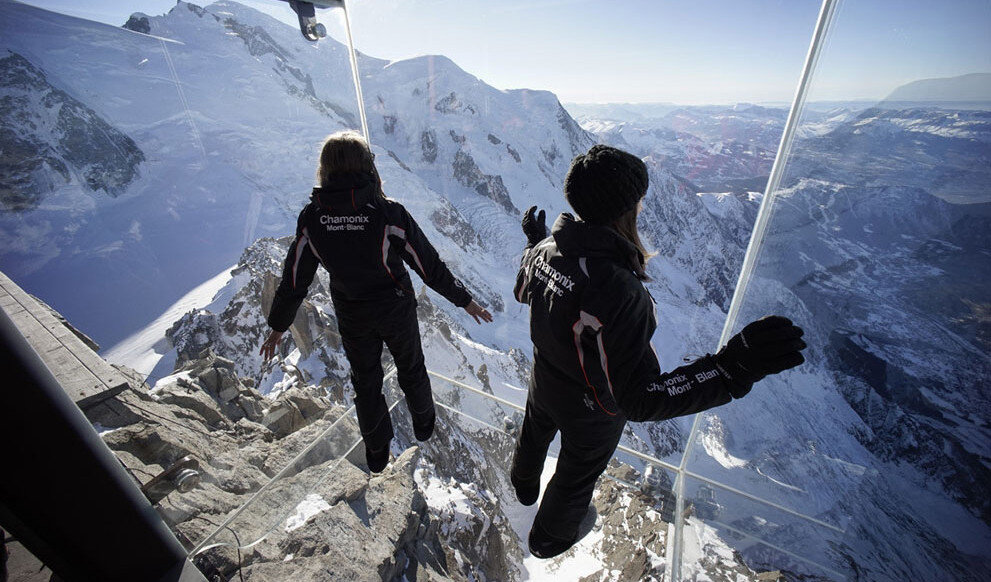 Chamonix Skywalk , Step Into the Void