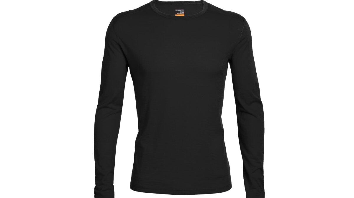 a dark long sleeve top