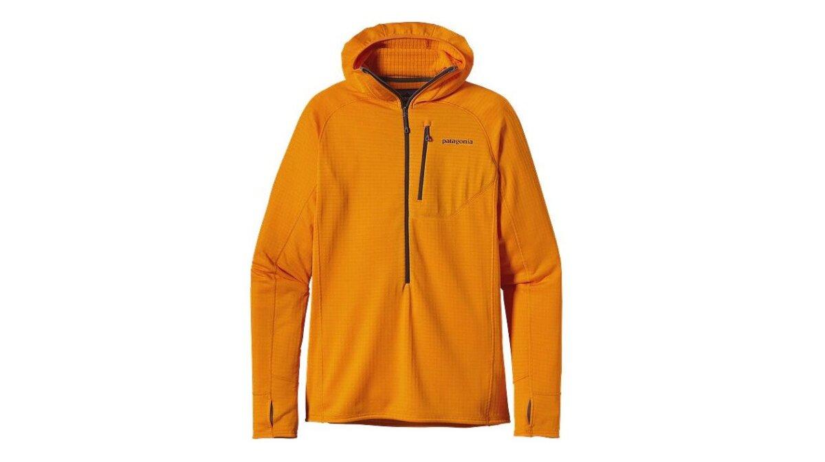 an orange hoody