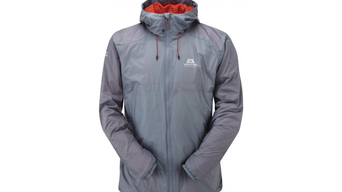 a grey outer shell jacket