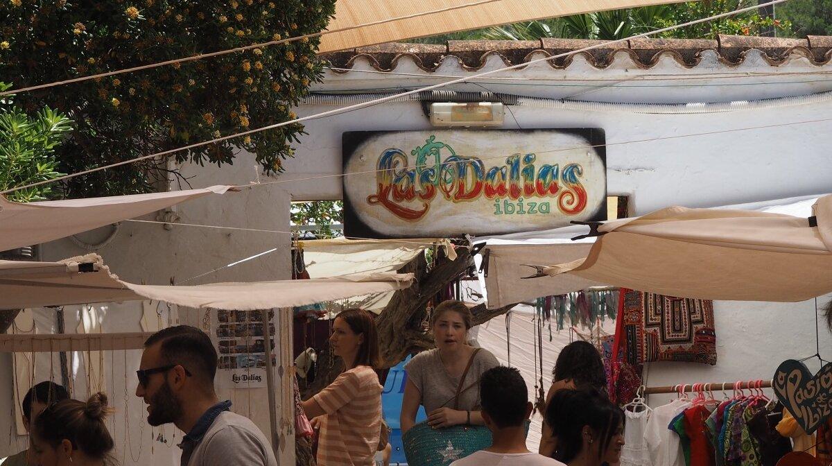 Las Dalias hippy market in San Carlos Ibiza