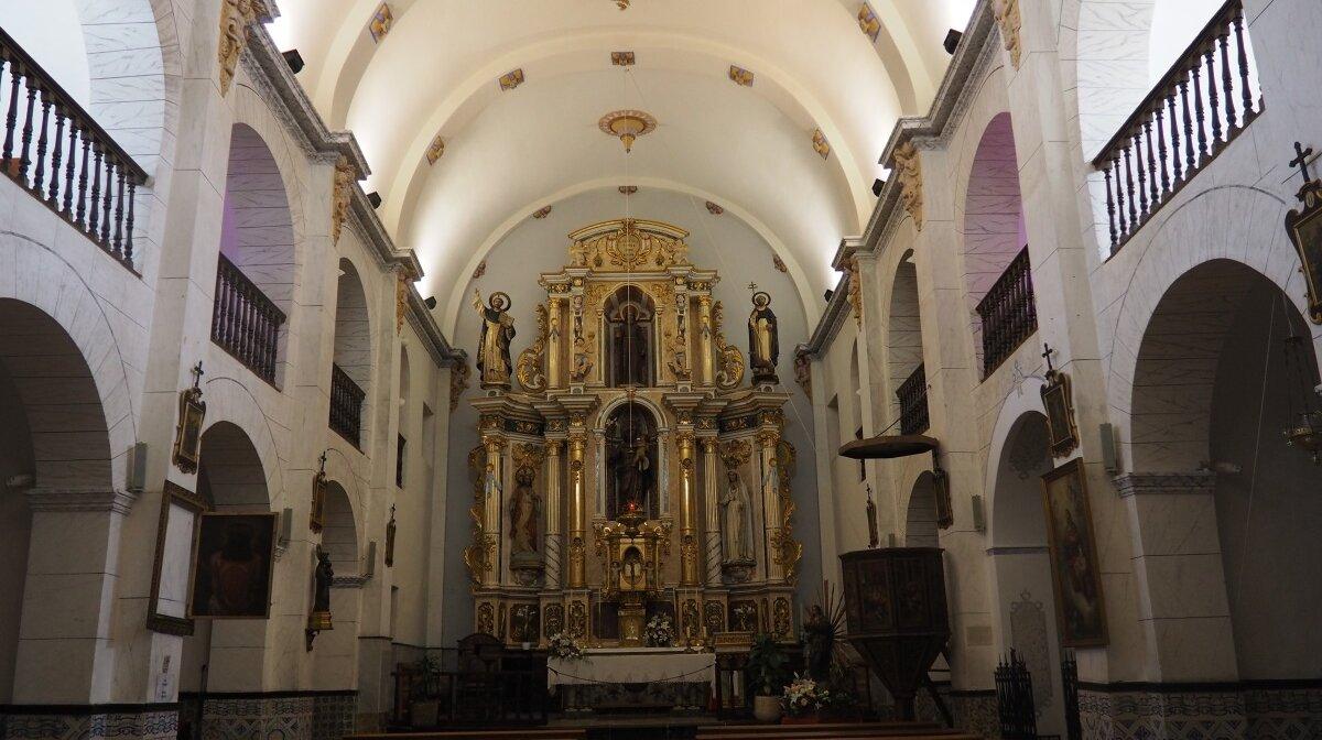 interior of the church in sant josep in ibiza