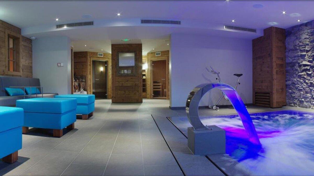inside a spa in morzine