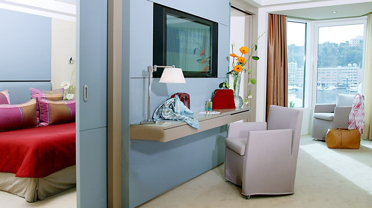 a suite in the port palace hotel in monaco