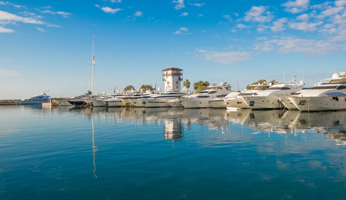 The Puerto Portals harbour