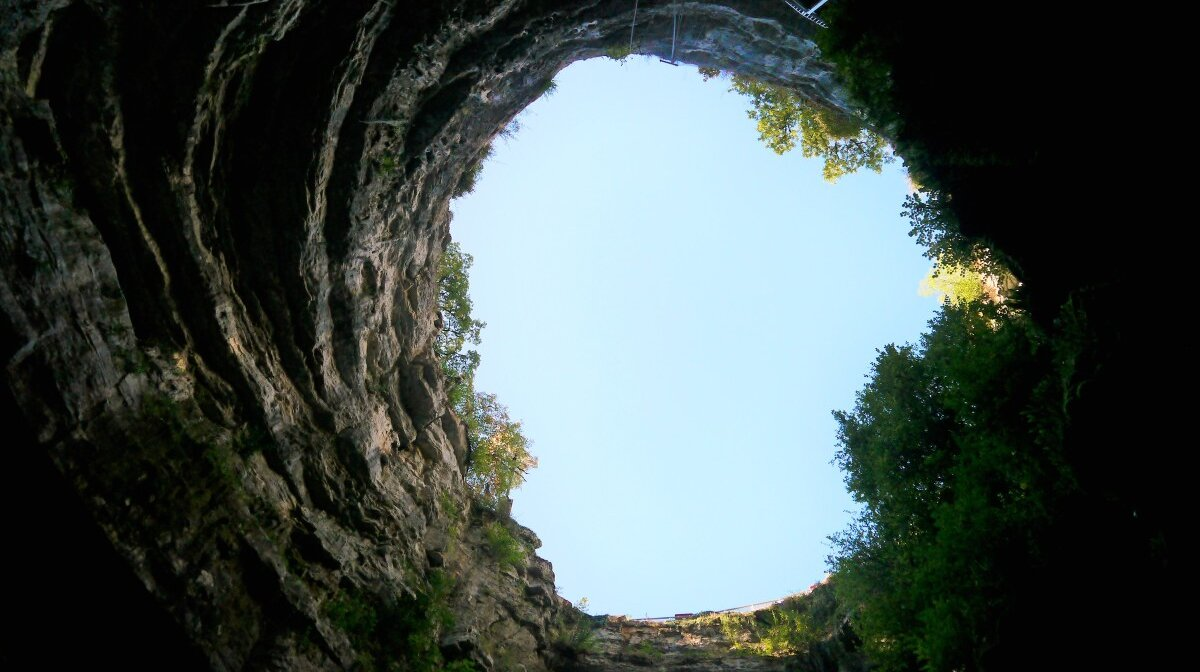 the gaping chasm of the Gouffre de Padirac