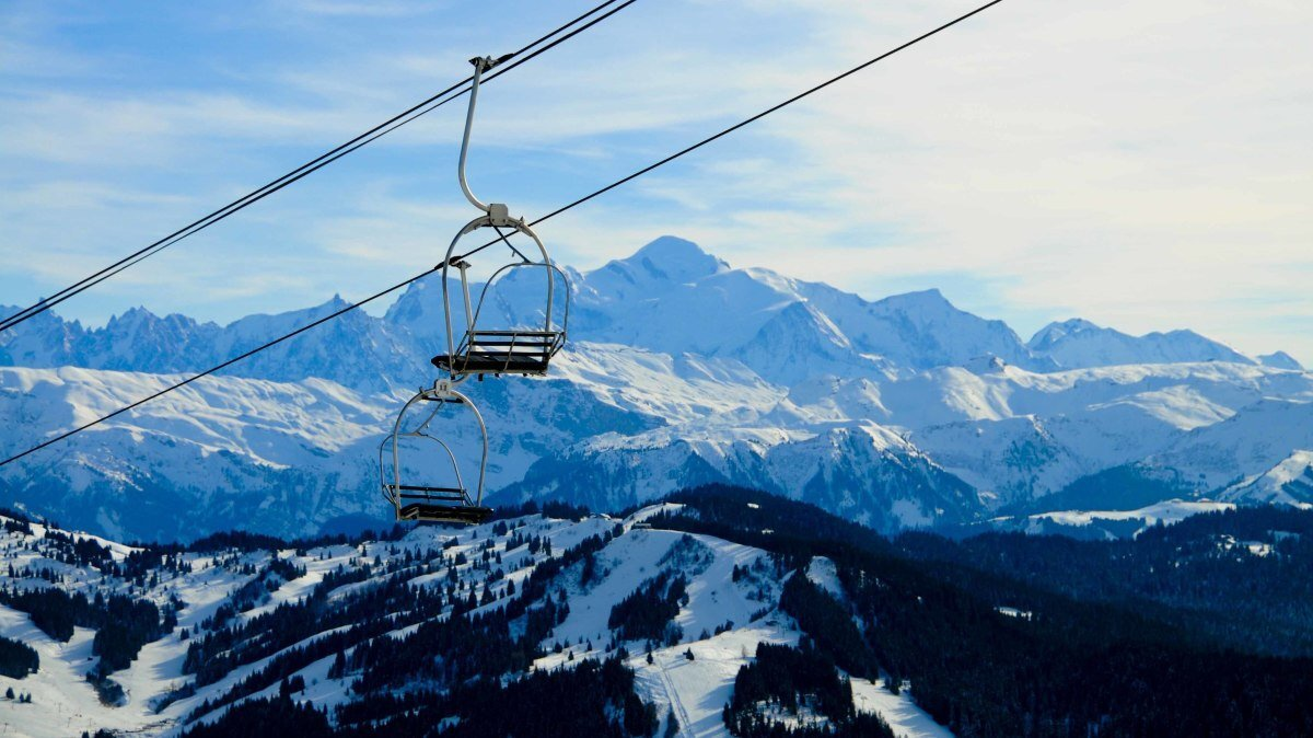 a view of Mont Blanc from Morzine