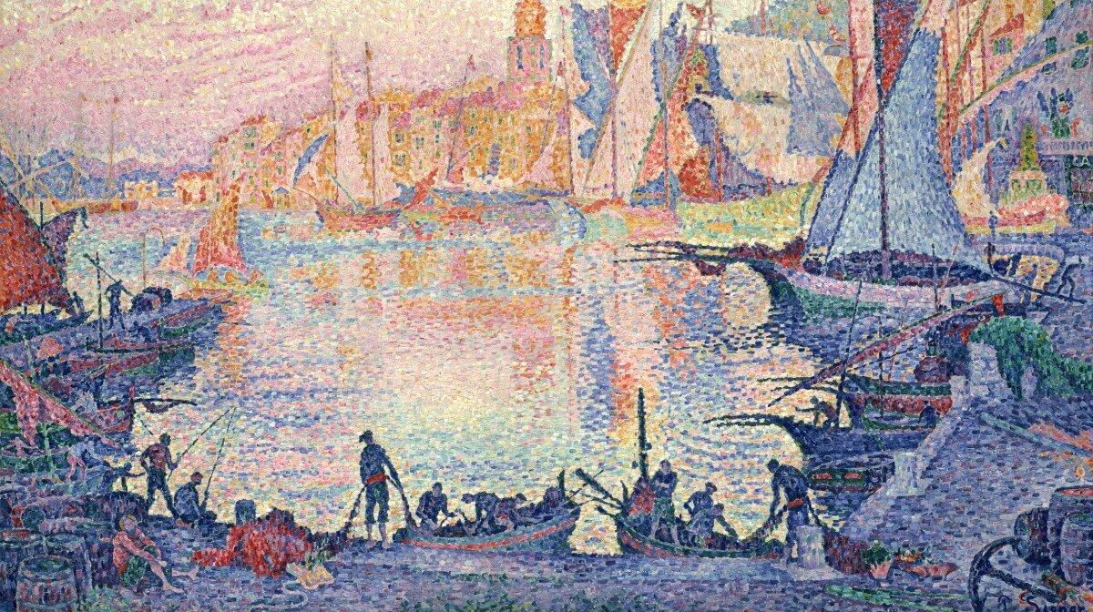 the port of saint tropez by paul signac