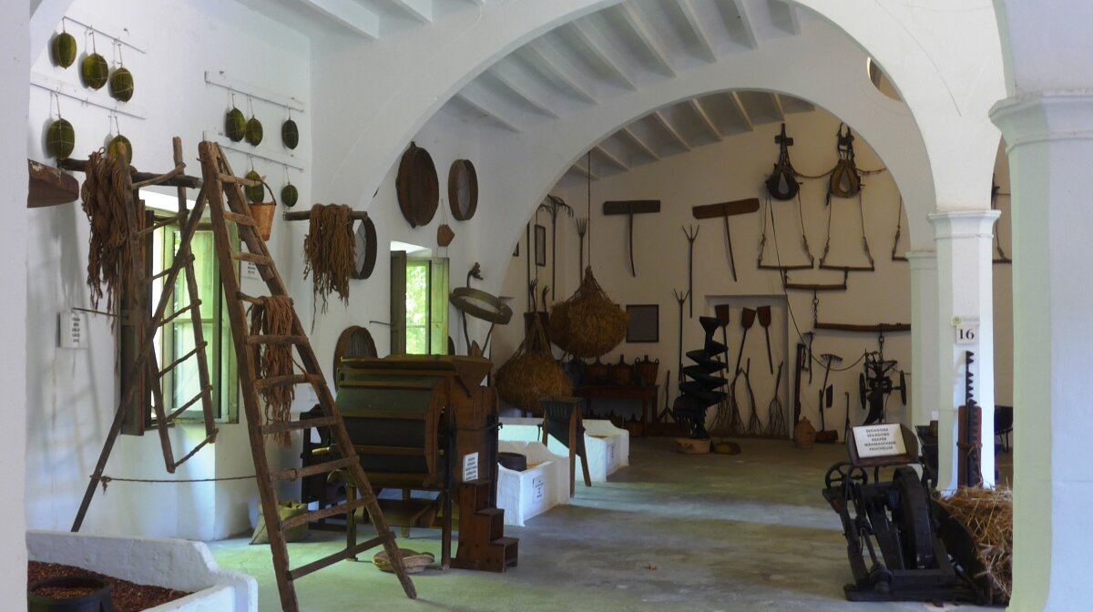 the interior of the stables at es calderes country house mallorca