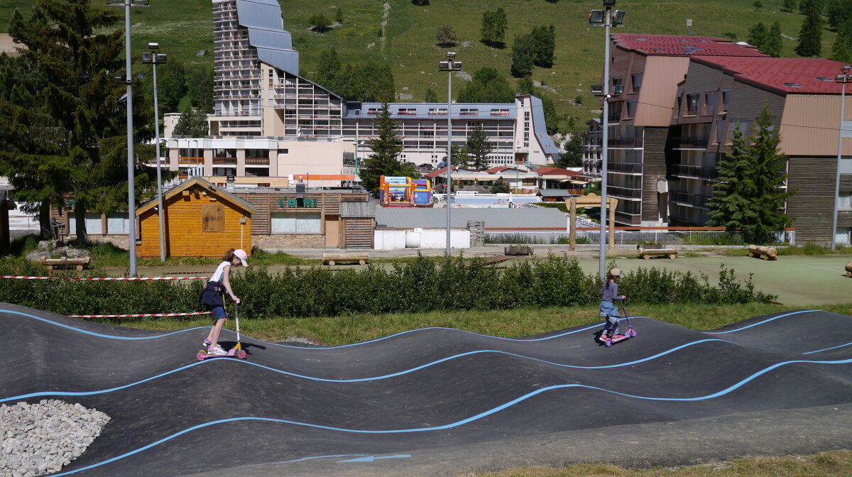 pump track in 2 alpes