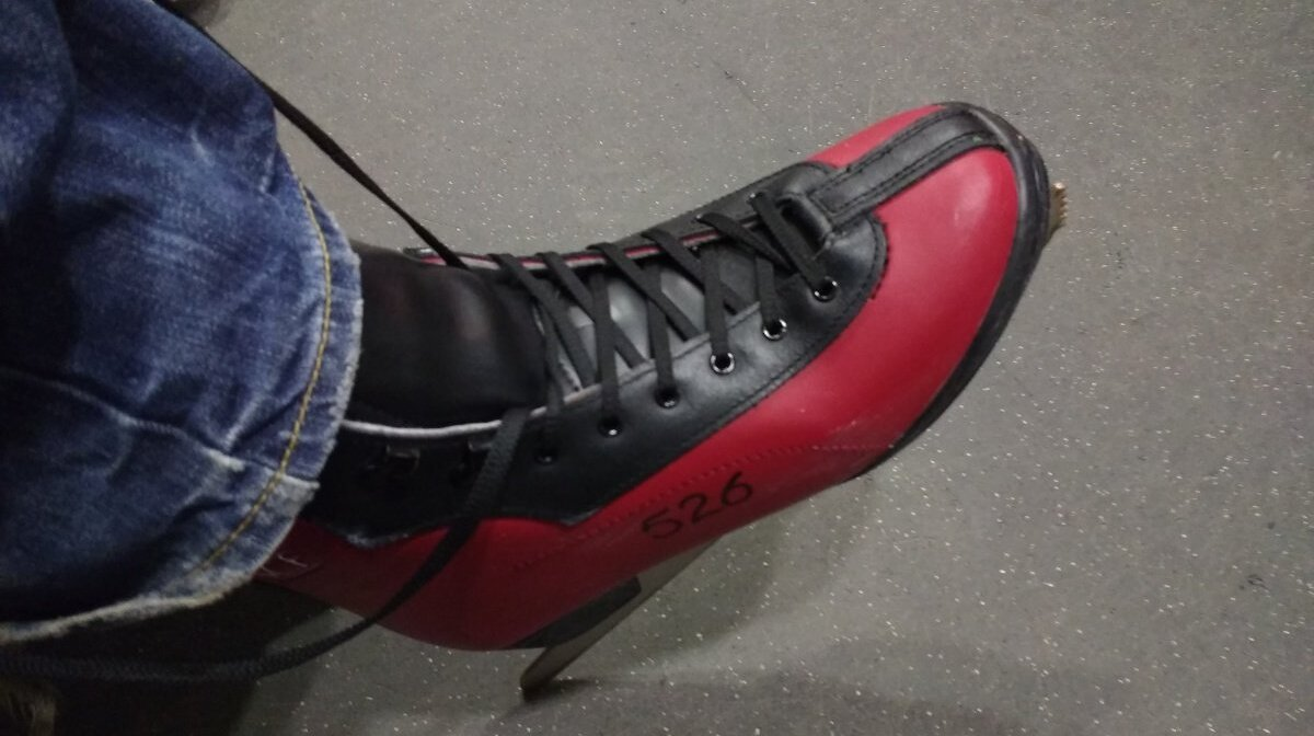 an ice skating boot