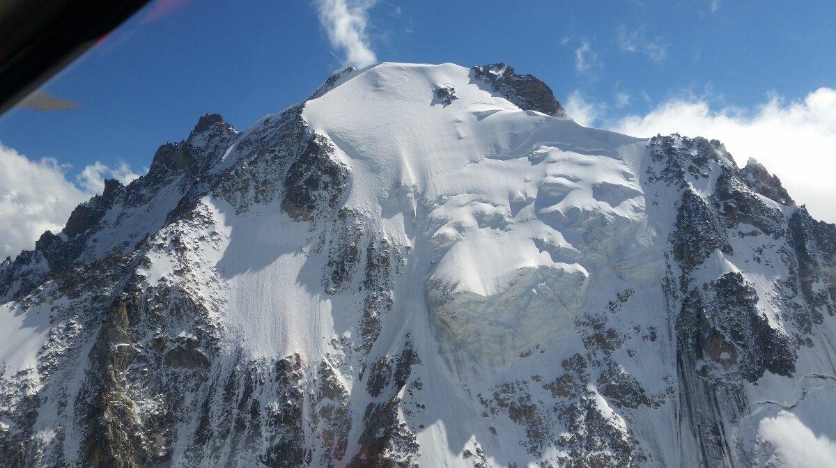 a mountain in chamonix