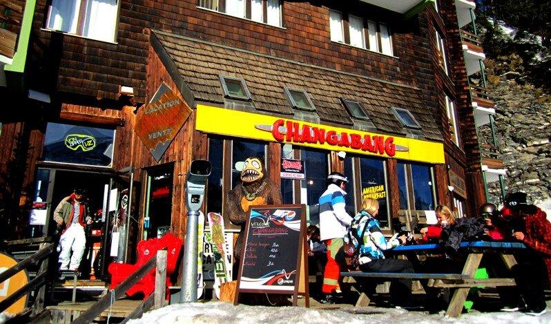 Changabang Snack Restaurant, Avoriaz exterior