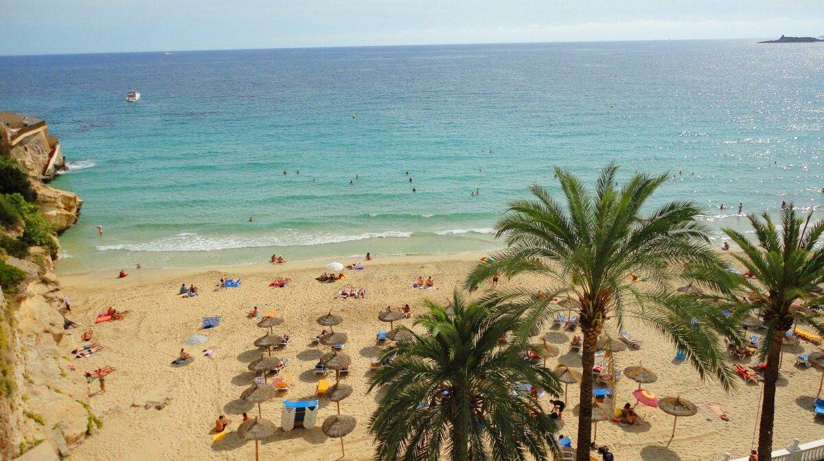 a beach near palma de mallorca on a sunny day