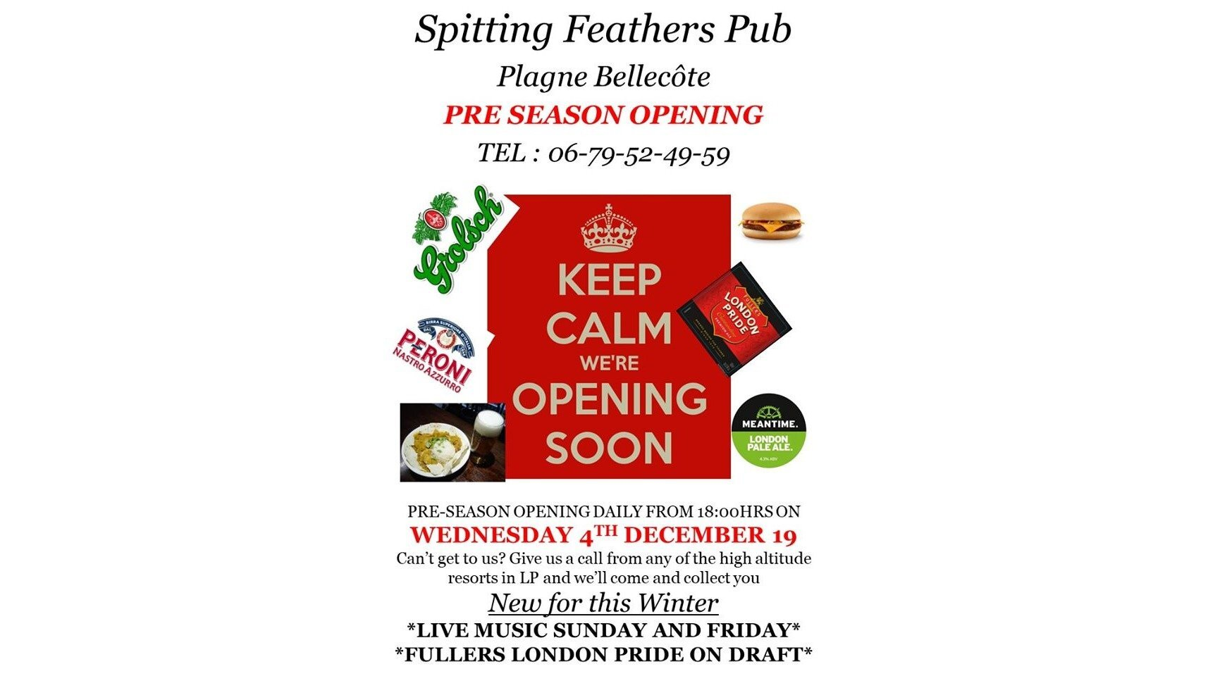 Pre-season opening at Spitting Feathers, La Plagne