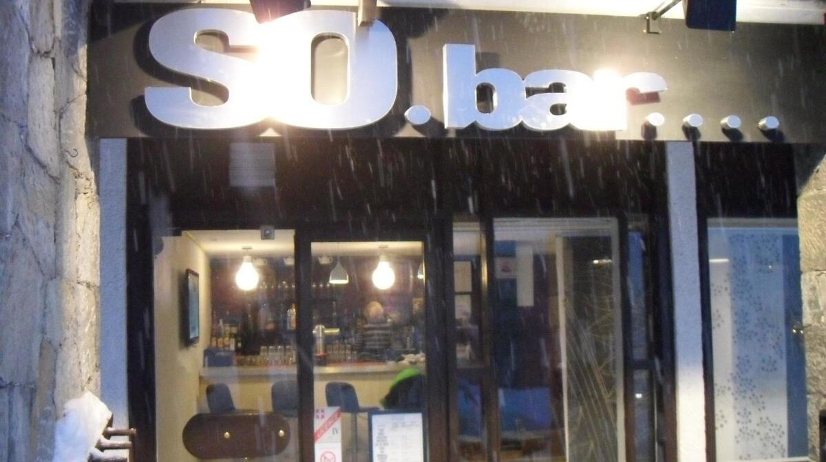 a bar in tignes