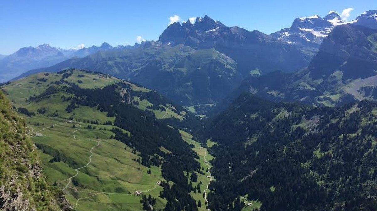 mountain views in teh portes du soleil