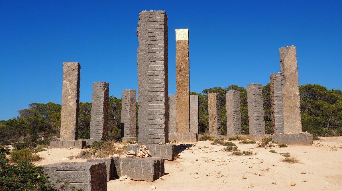 the ibizan stonehenge - sculpture in cala llentia ibiza