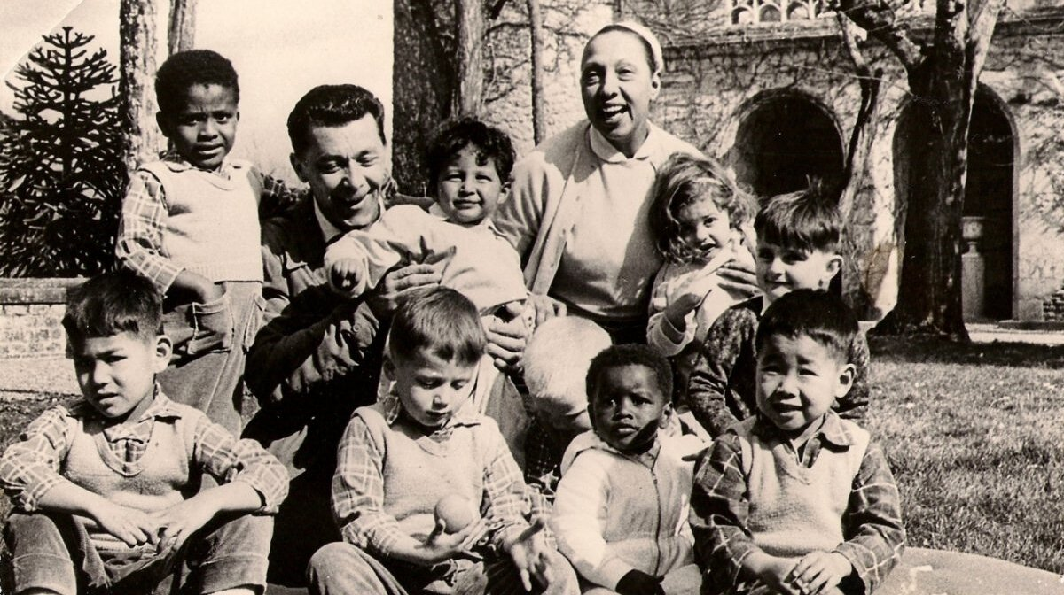 Josephine baker, her husband & some of her adopted children