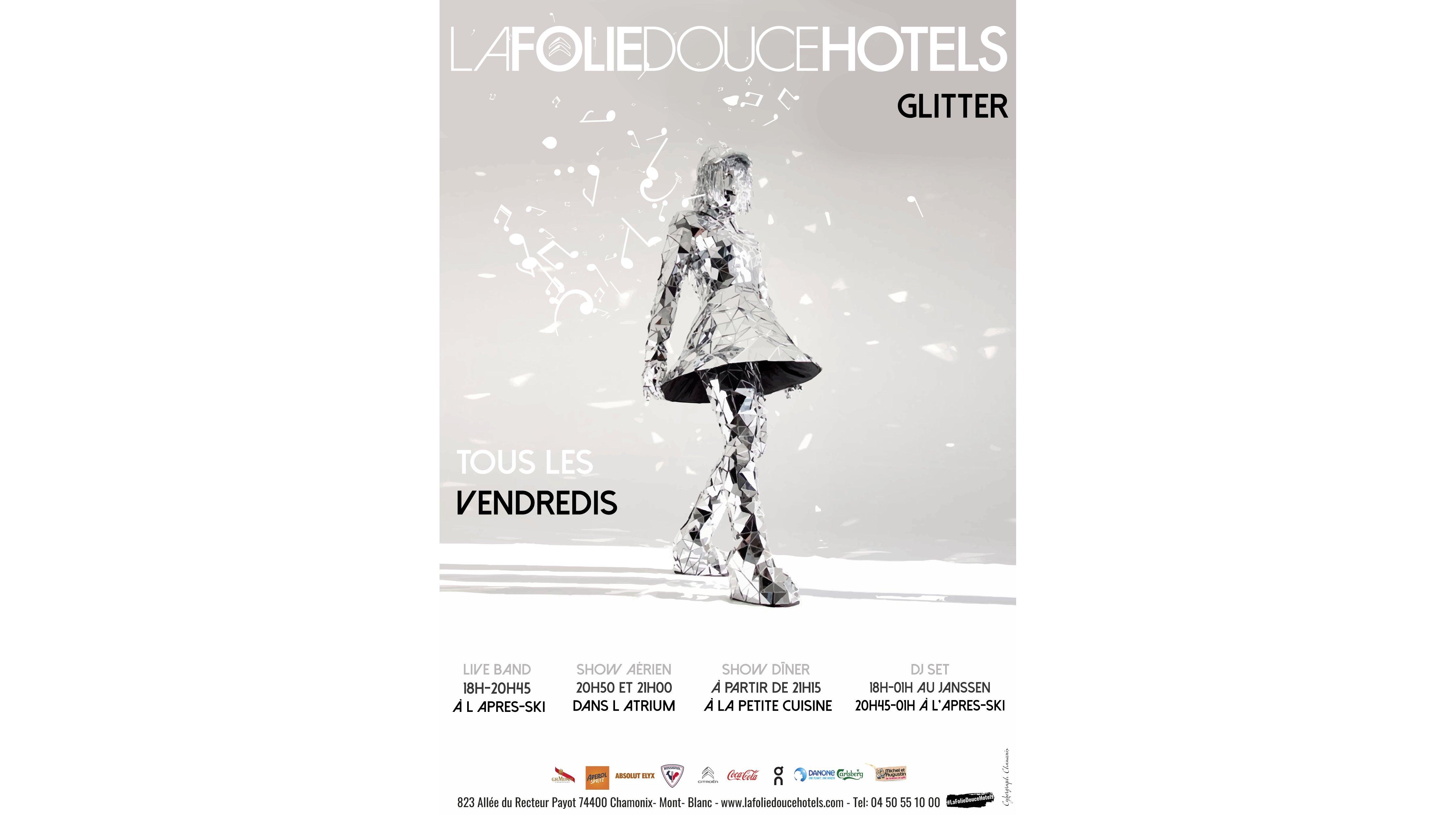 Glitter Party at La Folie Douce, Chamonix