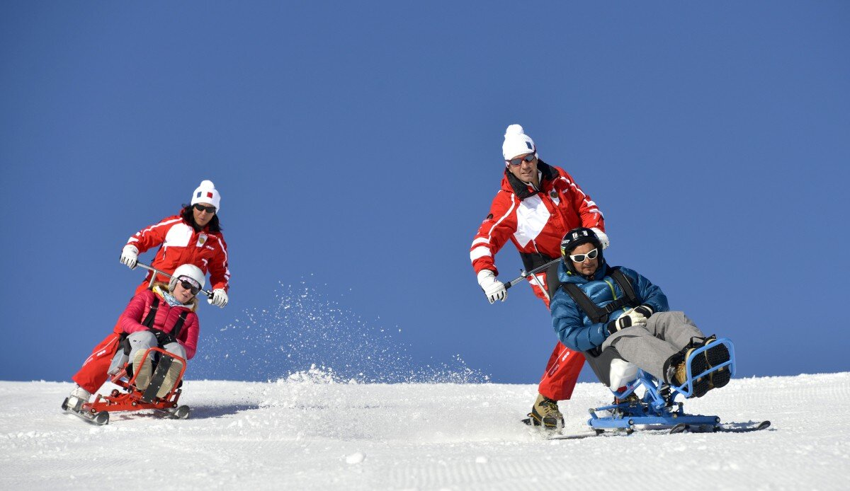 Disabled Skiing Courchevel
