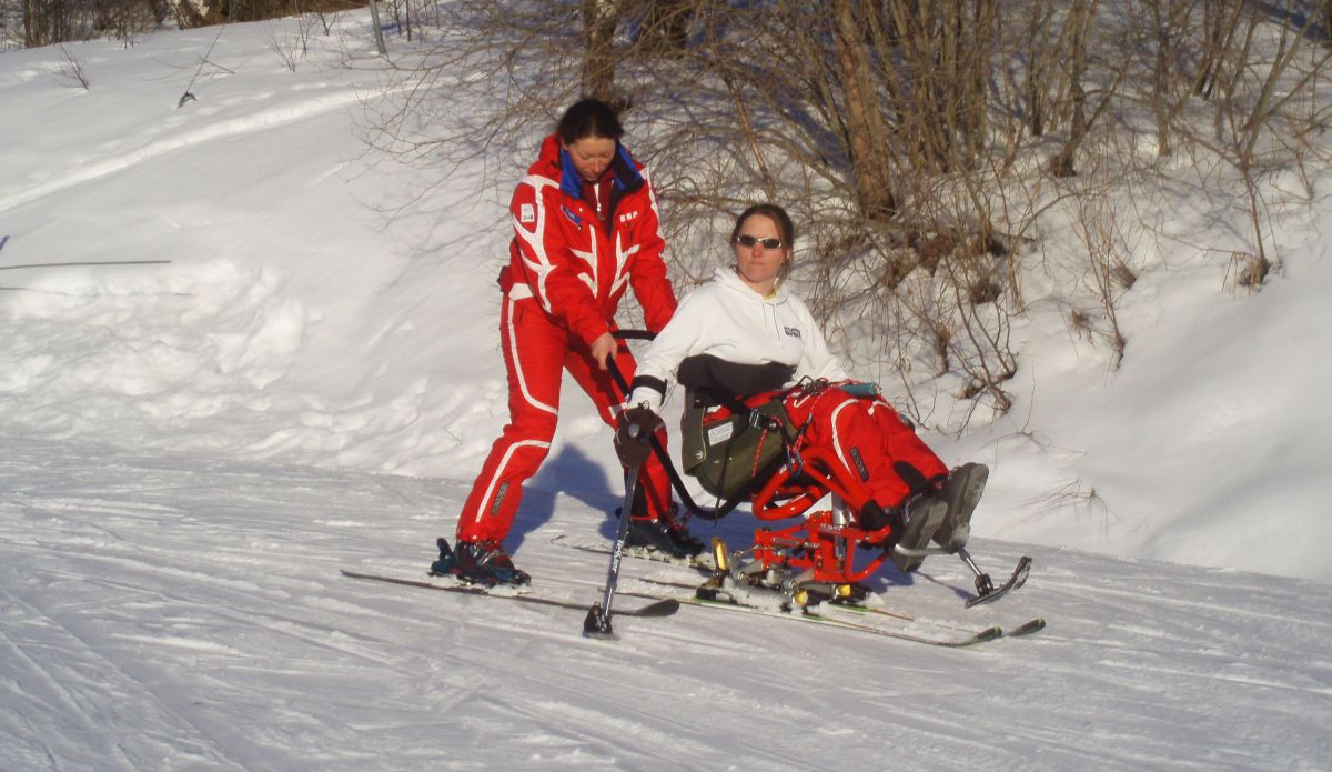 Disabled Skiing Verbier
