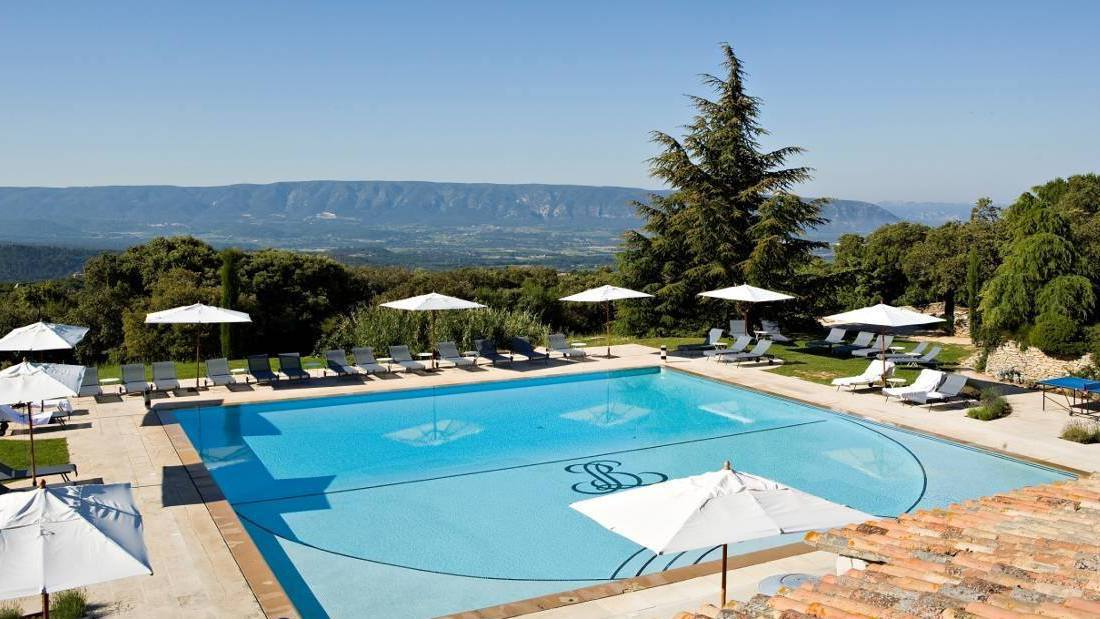 Les Bories Spa Hotel, Gordes outdoor swimming pool