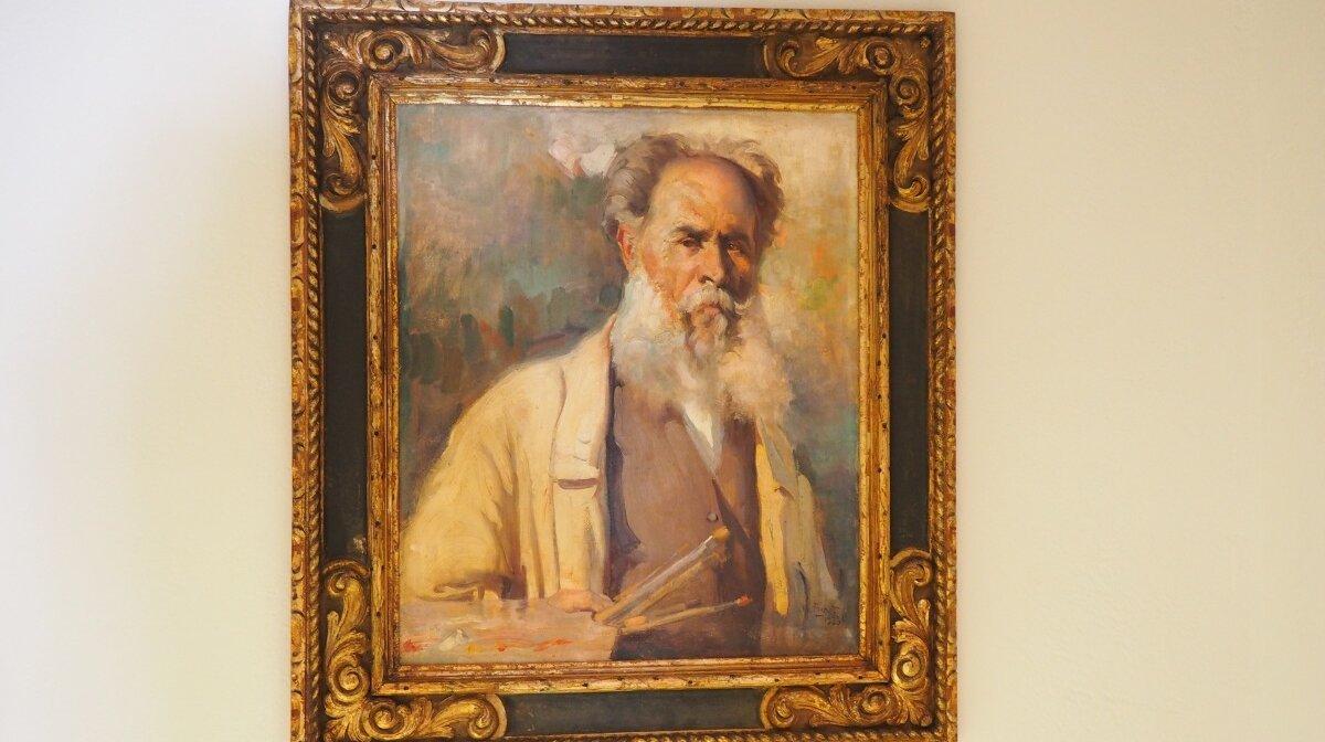 self portrait of Narcis Puget Vinas in Puget museum in Dalt Vila ibiza