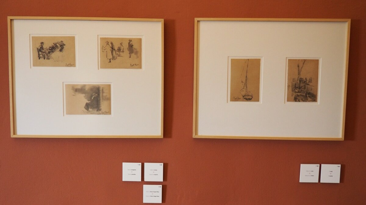 Charcoal drawings by artists in the Puget museum Ibiza Town