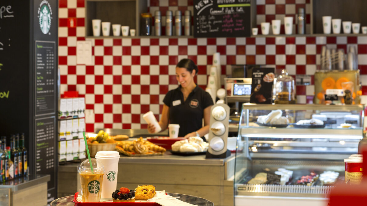 a coffee shop in Chamonix