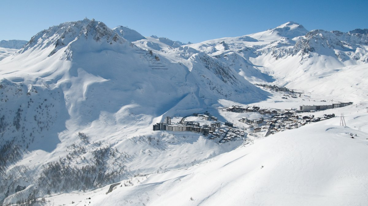 a ski resort in france