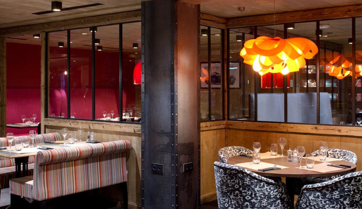 La Bisktacha Restaurant, Les Gets interior