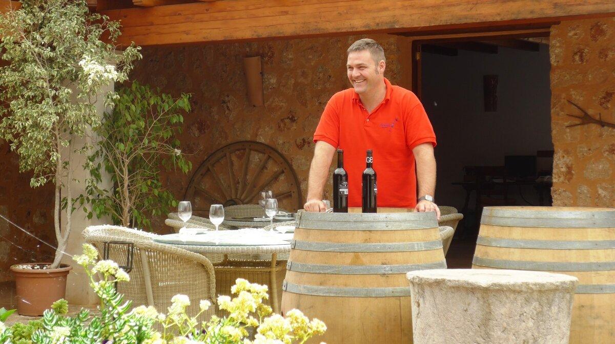 Andres Gelabert, founder of bodegas angel vineyard mallorca